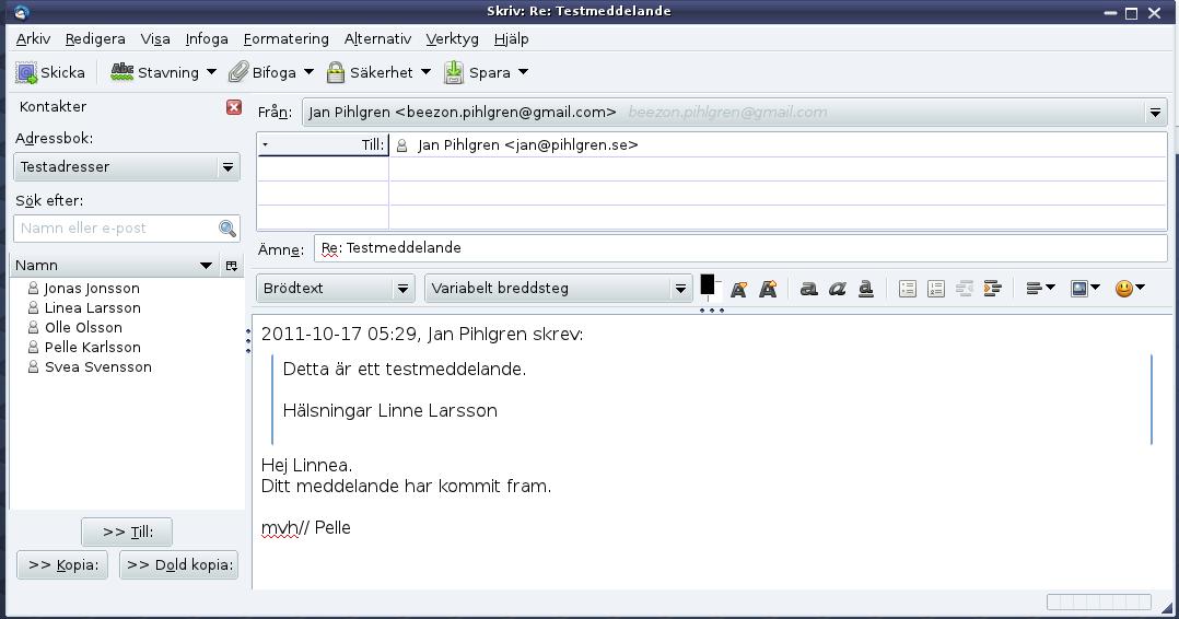 spara kontakter på gmail